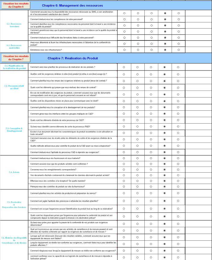 Grille d'évaluation ISO 9001 version 2000 simple d ...