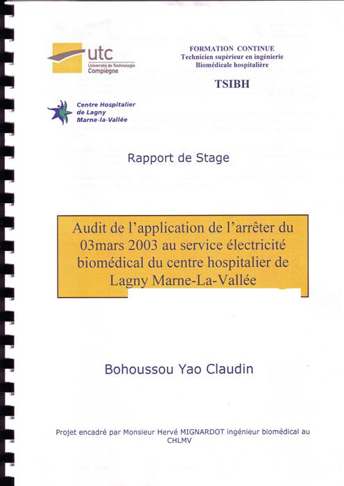 Liste Des Rapports De Stage